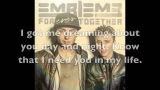 you're my light - emblem3 lyrics