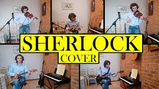 BBC SHERLOCK Opening & Main Theme Cover (guitar + bass + 2 violins + ukulele)