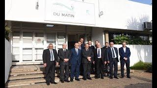 Mohamed Laarej en visite aux Imprimeries Le Matin