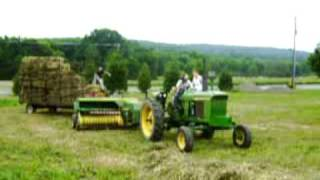 baling with a 3010 john deere and baler