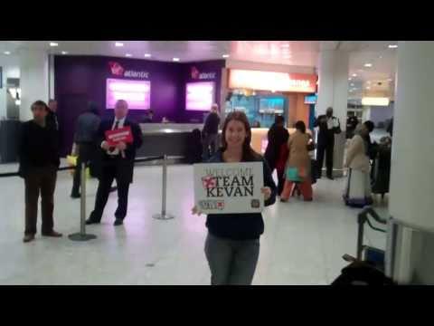 Team Kevan arrive in London!
