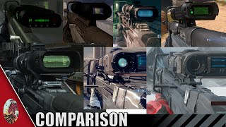 Halo 1-5 Sniper Rifle Comparison (All Halo Games Included)