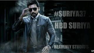 HBD SURIYA by #SURIYA37 motion poster on HEAVENLY STUDIO'S | A SURYA EDIT HOUSE |