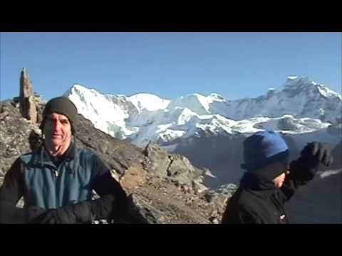 Everest Circuit Trek: On top of Gokyo Ri at 5357m
