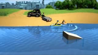 Lego City Furgoneta con lancha 60058 en Eurekakids