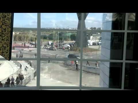 Morocco Mall – Sphère de l'IMAX vue du Hall d'entrée (HD)