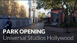 Park Opening - Universal Studios Hollywood