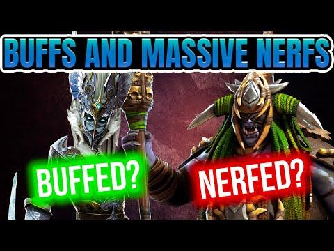 Big Buffs Bigger Nerfs Champion Rebalance I Raid Shadow Legends
