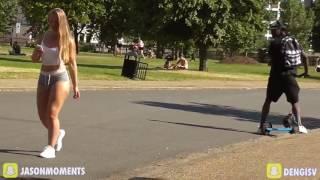 Pegadinha do shortinho! Mina dá um rolê no parque e causa confusão   Vídeo Dailymotion