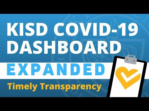 KISD COVID-19 Extended Dashboard Walkthrough img