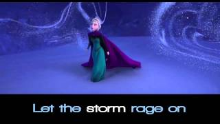 "Disney's Frozen ""Let It Go"" Sing-a-long (lyrics) *Professional Version* HD"