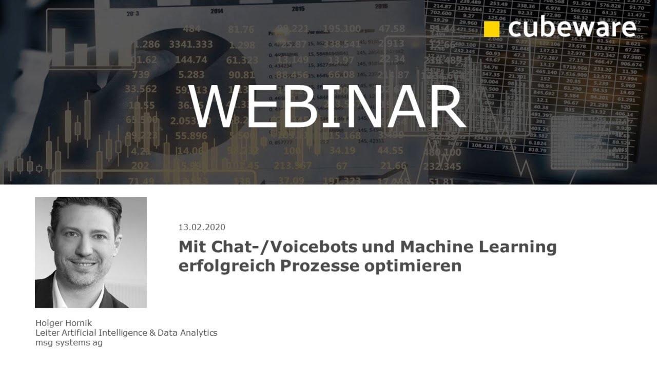 Mit Chat-/Voicebots und Machine Learning erfolgreich Prozesse optimieren