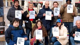 Bilbao: punto de recogida de firmas contra decreto USA contra Venezuela, rumbo 10 millones