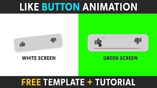 (FREE) YouTube Like Button Animation Template - After Effects + Any Software (Green Screen)