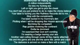 Hopsin - Hip Hop Sinister [OFFICIAL LYRICS]
