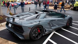 LOUD Novitec Aventador SV Start up and Hard Acceleration