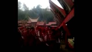 Ethnic song at mourning ceremony Tana Toraja