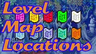 Kirby & The Amazing Mirror - Level Map Locations