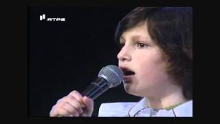 Carminho a cantar fado com 12 anos da idade