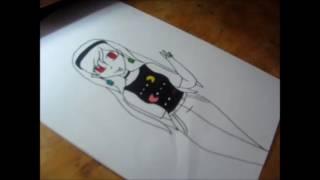 Pacman Girl (SpeedDrawing)