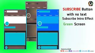 3D Classic Subscribe button | Green Screen | No Text