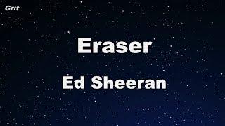 Eraser - Ed Sheeran Karaoke 【With Guide Melody】 Instrumental