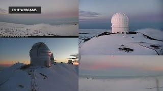 Webcams Capture Snow On Hawaii Summit (Dec. 19, 2016)