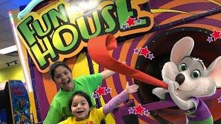 Chuck E Cheese Fun House Mirror Maze Floating Floors Slide