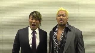 Video Message from Hiroshi Tanahashi and Togi Makabe