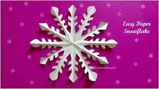 how to make 3d paper snowflake | DIY Youtube
