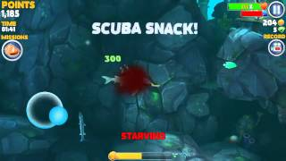 Me shark, me hungry, me eat man swimming