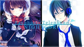 「Nightcore」→ Payphone / Telephone (Lyrics) [Switching Vocals]