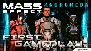 First Mass Effect Andromeda Gameplay on the PS4 Pro | Playstation Meeting 2016'