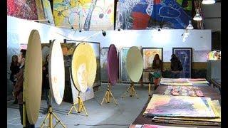 Por un día, abrieron sus puertas los talleres de pintores de Central Park en Barracas