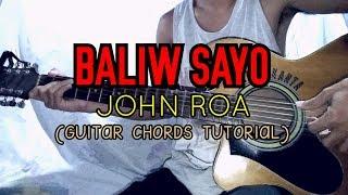 BALIW SAYO - John Roa ( Easy Guitar Tutorial )