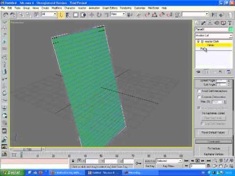 3d max kumaş animasyonucloth