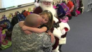 WOW VIDEO - First-grader Gets Surprise Daddy for Christmas!