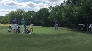 Split rail golf course