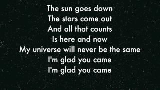 The Wanted - I'm Glad you came Lyrics