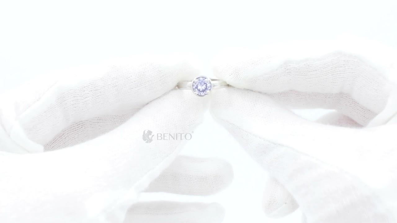 Emma Ring Purple Zircon Stone