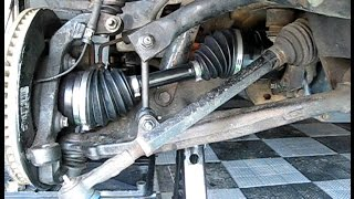 How to Replace Front Wheel DRIVE SHAFT HALF SHAFT CV AXLE SHAFT in HUMMER H3, GMC Canyon, Colorado