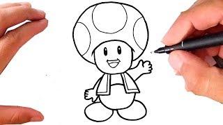Como Desenhar TOAD | Cogumelo Super Mario Bros