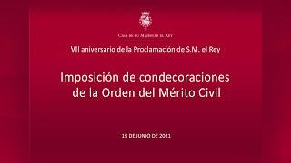Imposición de condecoraciones de la Orden del Mérito Civil