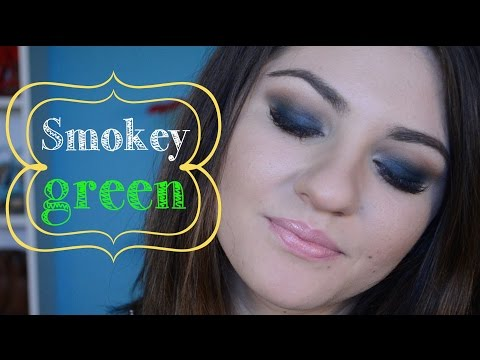 Smokey Green ( machiaj smokey eye verde )