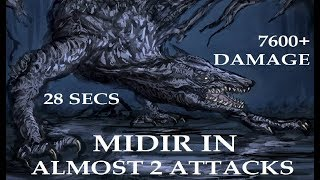 Dark Souls 3 - Darkeater Midir in Almost 2 Combo Attacks - 28 Secs...