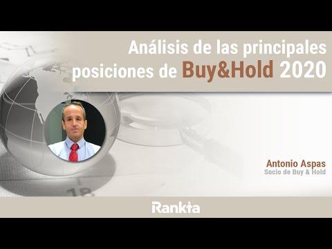 En el webinar, Antonio Aspas, socio de Buy & Hold nos comentará sobre las posiciones que tienen en cartera y analizarán varias de las empresas y bonos al detalle. Además comentarán el posicionamiento general de cara al 2020.