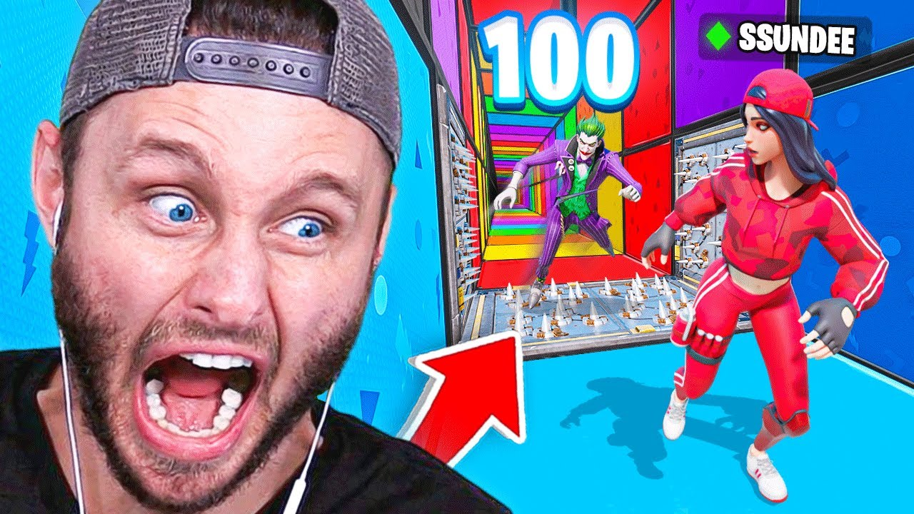 SSundee - *NEW* 100 STAGE DEATH RUN Game Mode in Fortnite Battle Royale