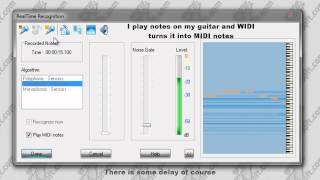 Tutorial - How to convert real time audio to MIDI (WIDI Professional 4.0)