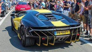 Supercars leaving a CarShow | Cars And Coffee Belgium 2018 [Kortrijk]