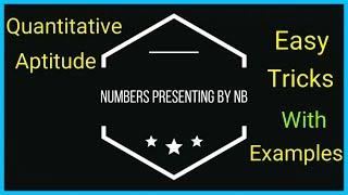 Quantitative Aptitude chapter 1 Numbers basic concepts with easy tricks and examples in hindi